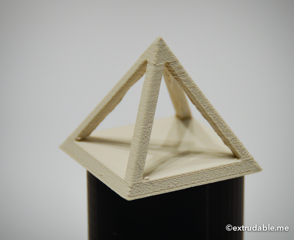 Retraction Test Hollow Pyramid in LayBrick